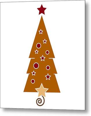 Christmas Tree Metal Print by Frank Tschakert