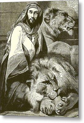 Daniel In The Lions Den Metal Print by English School