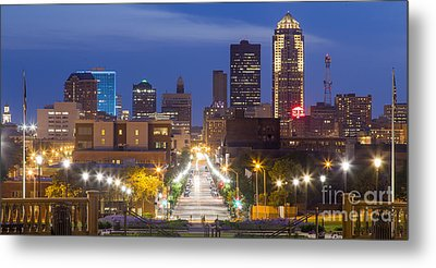 Des Moines From The State Capitol Metal Print by Twenty Two North Photography