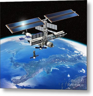 Eneide Mission To The Iss, Artwork Metal Print by David Ducros
