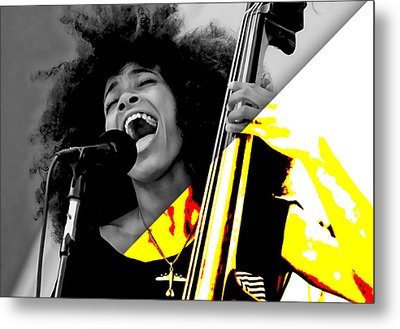 Esperanza Spalding Collection Metal Print by Marvin Blaine
