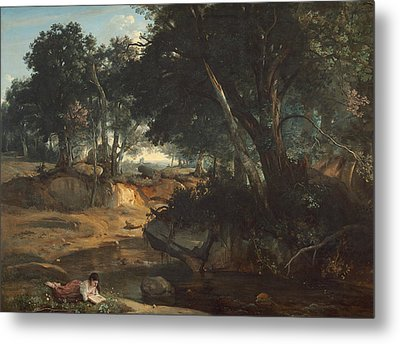 Forest Of Fontainebleau  Metal Print by Jean-Baptiste-Camille Corot
