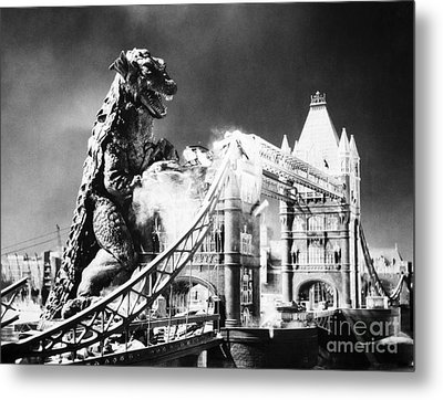 Godzilla Metal Print by Granger