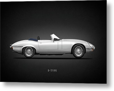 Jaguar E-type Metal Print by Mark Rogan