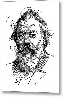 Johannes Brahms 1833-1897 Metal Print by Granger