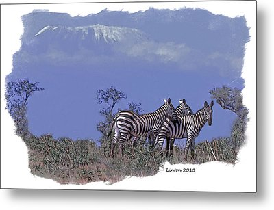 Kilimanjaro Metal Print by Larry Linton