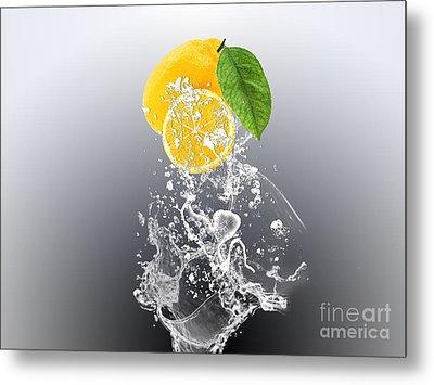 Lemon Splast Metal Print by Marvin Blaine
