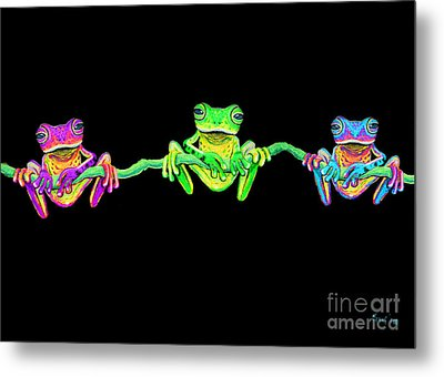 3 Little Frogs Metal Print by Nick Gustafson