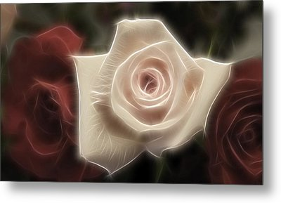 3 Little Roses For Patrice Metal Print by Kevin  Sherf