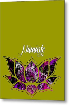 Namaste Metal Print by Marvin Blaine