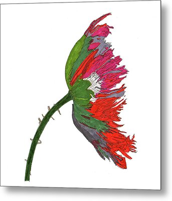 Pin Ink Water Color Metal Print by Jay Pumphrey Jr