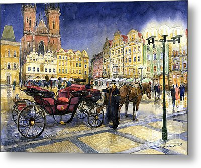 Prague Old Town Square Metal Print by Yuriy  Shevchuk