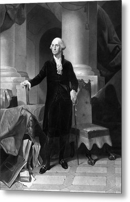 President George Washington  Metal Print by War Is Hell Store