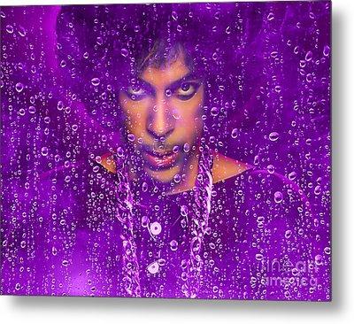 Prince Purple Rain Tribute Metal Print by Marvin Blaine