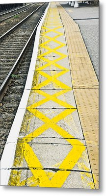 Railway Platform Metal Print by Tom Gowanlock