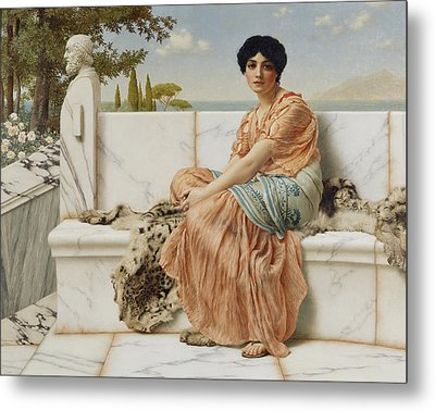 Reverie Metal Print by John William Godward