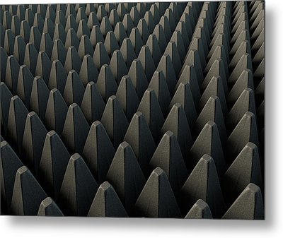 Sound Proof Foam Metal Print by Allan Swart