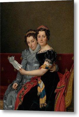 The Sisters Zenaide And Charlotte Bonaparte Metal Print by Jacques-Louis David