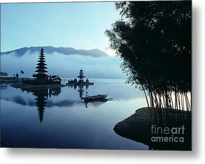Ulu Danu Temple Metal Print by William Waterfall - Printscapes