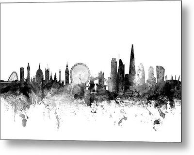 London England Skyline Metal Print by Michael Tompsett