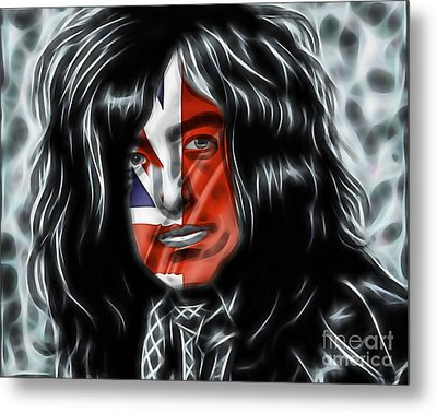 Jimmy Page Collection Metal Print by Marvin Blaine