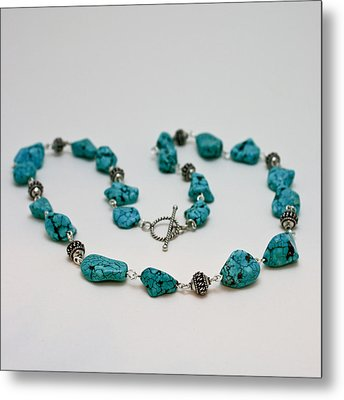 3599 Turquoise Necklace Metal Print by Teresa Mucha
