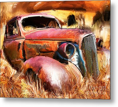 37 Chevy Metal Print by Tom Griffithe