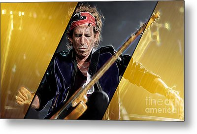 Keith Richards Collection Metal Print by Marvin Blaine