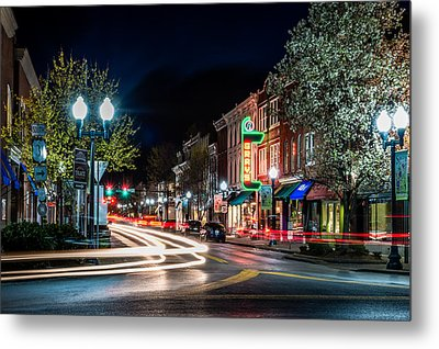 Franklin, Tennessee - 3rd And Main Metal Print by David Tutterrow