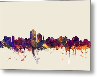 Albuquerque New Mexico Skyline Metal Print by Michael Tompsett