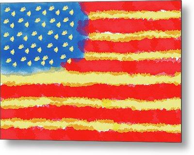 American Flag Metal Print by Skip Nall