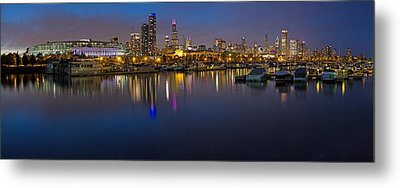 Downtown Chicago From Burnham Harbor Metal Print by Twenty Two North Photography