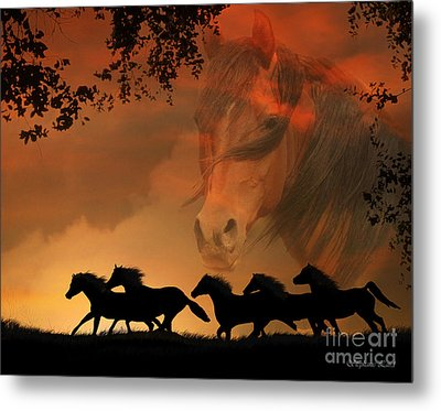 4-ever Free Metal Print by Stephanie Laird