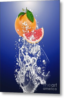 Grapefruit Splash Metal Print by Marvin Blaine