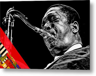 John Coltrane Collection Metal Print by Marvin Blaine