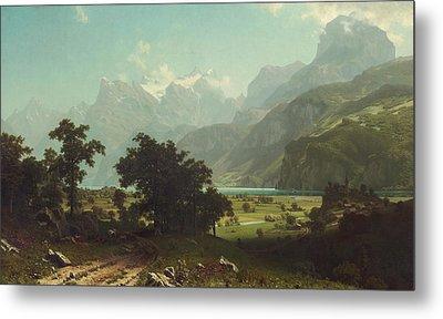 Lake Lucerne Metal Print by Albert Bierstadt