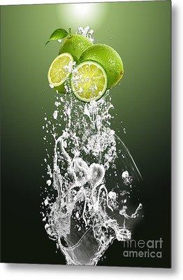 Lime Splash Metal Print by Marvin Blaine