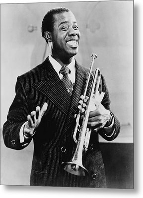 Louis Armstrong 1901-1971, African Metal Print by Everett