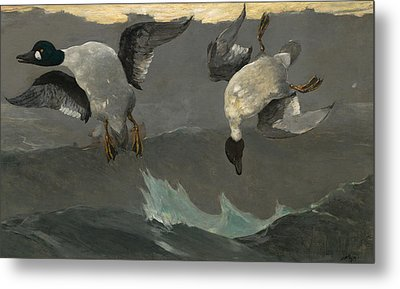Right And Left Metal Print by Winslow Homer