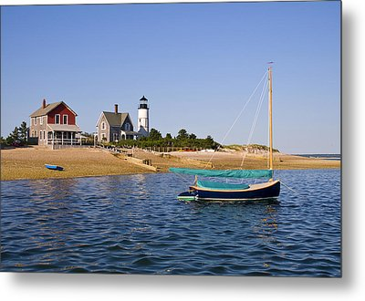 Sandy Neck Lighthouse Metal Print by Charles Harden