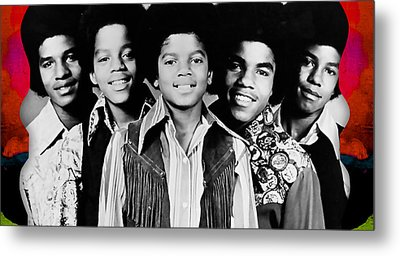 The Jackson 5 Collection Metal Print by Marvin Blaine
