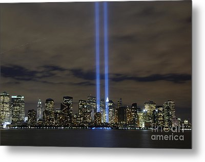 The Tribute In Light Memorial Metal Print by Stocktrek Images