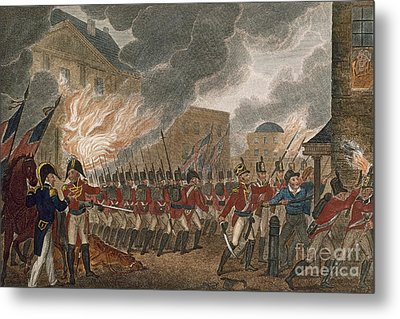 Washington Burning, 1814 Metal Print by Granger