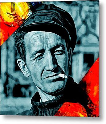 Woody Guthrie Collection Metal Print by Marvin Blaine