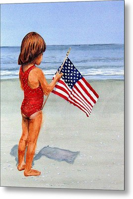 4th Of July Metal Print by Haldy Gifford