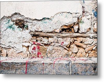 Damaged Wall Metal Print by Tom Gowanlock