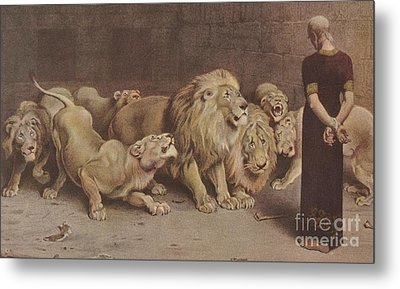 Daniel In The Lions Den Metal Print by Briton Riviere