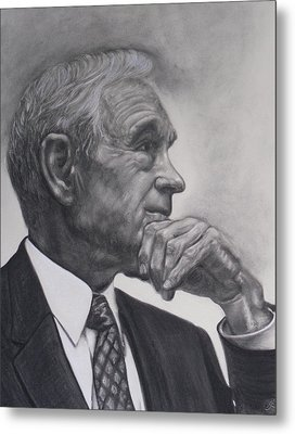 Dr. Ron Paul Metal Print by Adrienne Martino