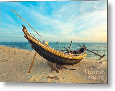 Fisherman Boat Metal Print by MotHaiBaPhoto Prints