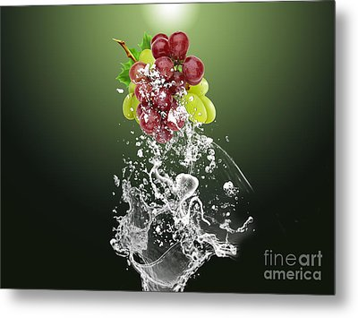 Grape Splash Metal Print by Marvin Blaine